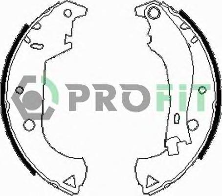 Комплект тормозных колодок Profit PR 5001-0604