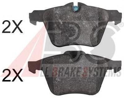 Комплект тормозных колодок, дисковый тормоз A.b.s. 37753