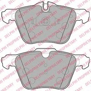 Комплект тормозных колодок, дисковый тормоз Delphi LP2114