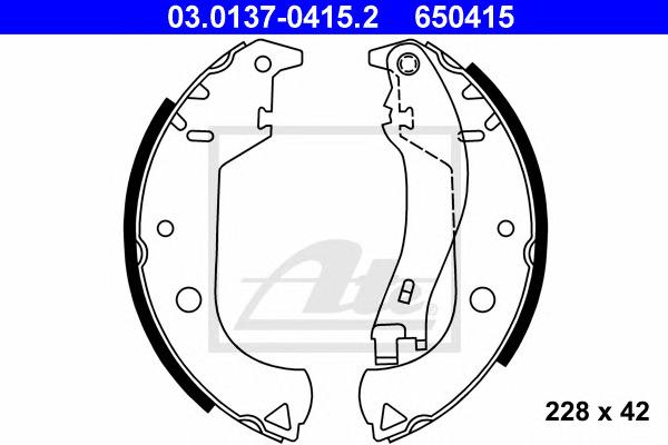 Комплект тормозных колодок Ate 03013704152