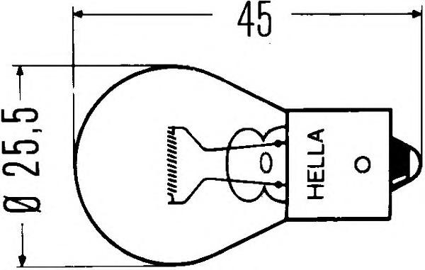Лампа накаливания, фонарь указателя поворота Hella 8GA 002 073-121