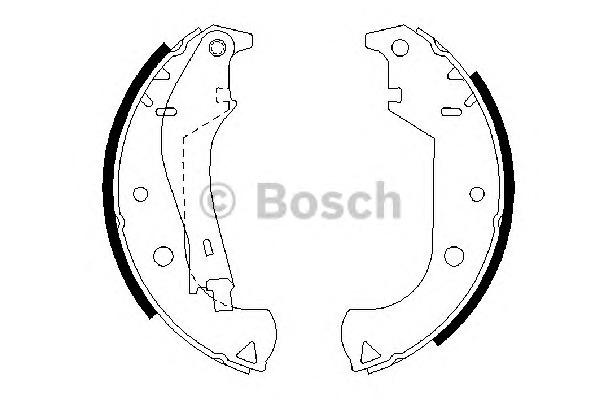 Комплект тормозных колодок Bosch 0 986 487 626