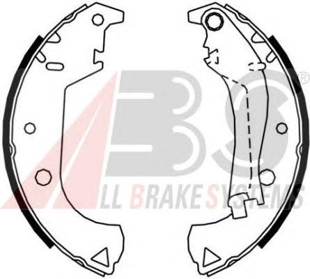 Комплект тормозных колодок A.b.s. 9119