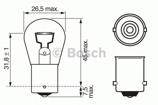 Лампа накаливания, фонарь указателя поворота (спереди) Bosch 1 987 302 201