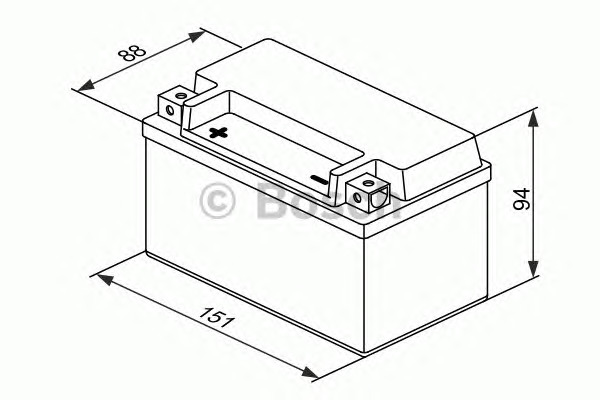 Стартерная аккумуляторная батарея Bosch BO 0092M60070
