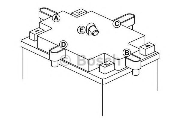Стартерная аккумуляторная батарея Bosch BO 0092M4F250