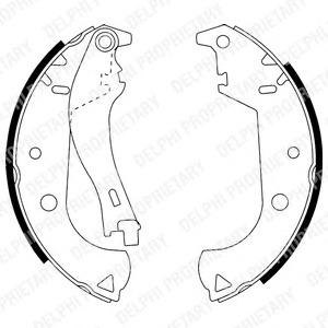 Комплект тормозных колодок Delphi LS1916