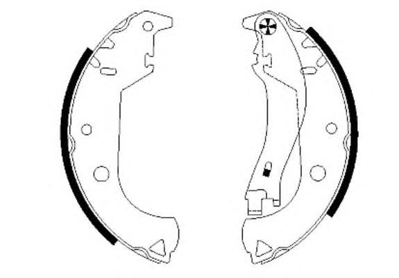 Комплект тормозных колодок Textar 91059900