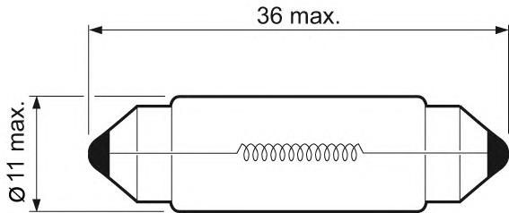 Лампа накаливания, фонарь освещения номерного знака Valeo 032217