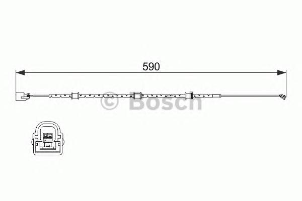 Сигнализатор, износ тормозных колодок Bosch 1987474513