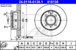 Тормозной диск Ate 24011801381