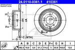 Тормозной диск Ate 24011003611