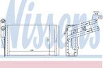 Теплообменник, отопление салона Nissens 70224