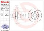 Тормозной диск Brembo 08.3636.10