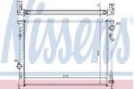 Радиатор, охлаждение двигателя Nissens 61014A
