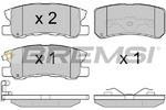 Комплект тормозных колодок, дисковый тормоз Bremsi BP2965