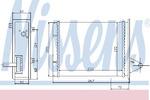 Теплообменник, отопление салона Nissens NI 71448