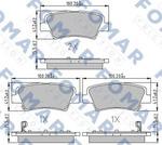Комплект тормозных колодок, дисковый тормоз Fomar FO 207983