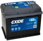 Стартерная аккумуляторная батарея Exide EB620