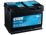 Стартерная аккумуляторная батарея Exide EL700