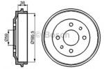 Тормозной барабан Bosch 0986477055