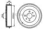 Тормозной барабан Bosch 0986477088