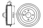 Тормозной барабан Bosch 0986477109