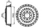 Тормозной барабан Bosch 0986477146