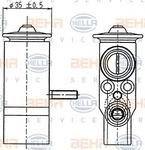 Расширительный клапан, кондиционер Hella 8UW351239021