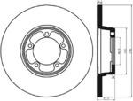 Тормозной диск Mintex MDC354
