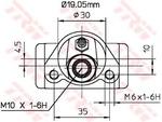 Колесный тормозной цилиндр Trw BWD110