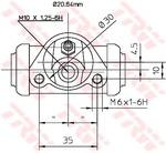 Колесный тормозной цилиндр Trw BWF144