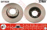 Тормозной диск Trw DF1826