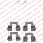Комплектующие, колодки дискового тормоза Delphi LX0342