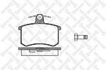 Комплект тормозных колодок, дисковый тормоз (задний мост) Stellox 146 020-SX