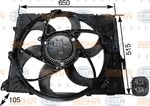 Вентилятор, охлаждение двигателя Hella 8EW 351 043-251