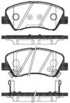 Комплект тормозных колодок, дисковый тормоз (передний мост) Remsa 148802