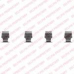 Комплектующие, колодки дискового тормоза Delphi LX0468