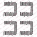 Комплектующие, колодки дискового тормоза Delphi LX0483