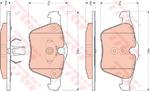 Комплект тормозных колодок, дисковый тормоз Trw GDB1684