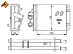 Теплообменник, отопление салона Nrf 53641