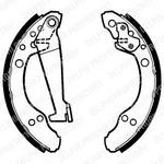 Комплект тормозных колодок Delphi LS1277