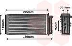 Теплообменник, отопление салона Van Wezel 17006183