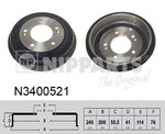Тормозной барабан Nipparts N3400521