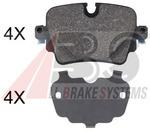 Комплект тормозных колодок, дисковый тормоз A.b.s. 35053