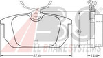 Комплект тормозных колодок, дисковый тормоз A.b.s. 36188