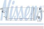 Теплообменник, отопление салона Nissens 71808