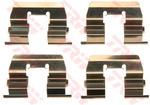 Комплектующие, колодки дискового тормоза Trw PFK601