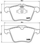 Комплект тормозных колодок, дисковый тормоз Brembo P36027