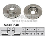 Тормозной диск Nipparts N3300540